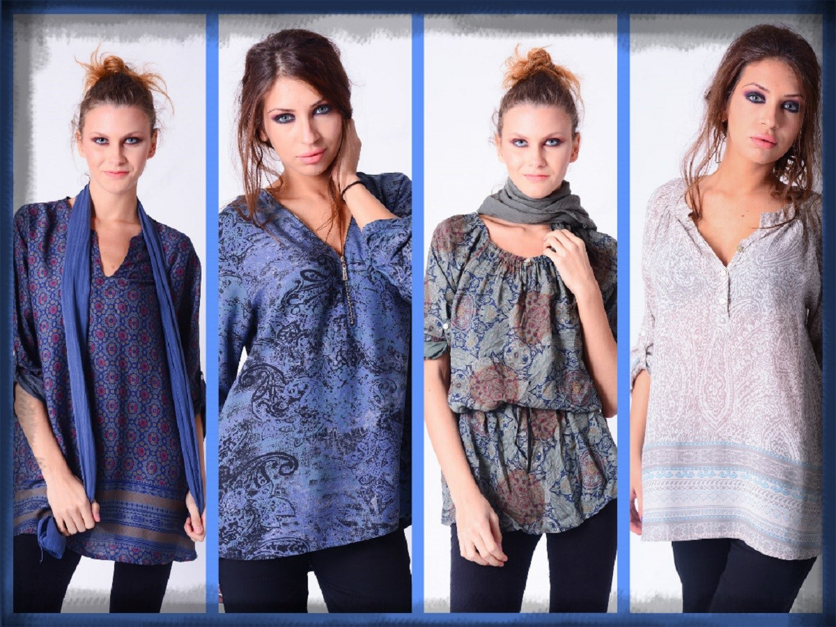 wholesale tunic and blouse italy